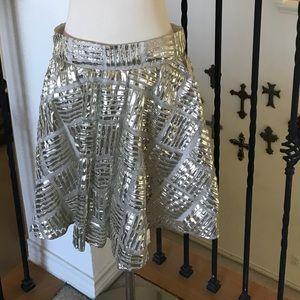 *SOLD on eBay* Alice + Olivia Gold Silver Skirt